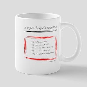 A Marathoner's Response Mug