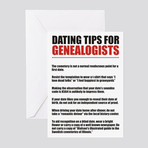 Dating Tips Greeting Cards (Pk of 10)