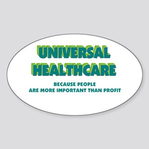 Universal HealthCare Oval Sticker