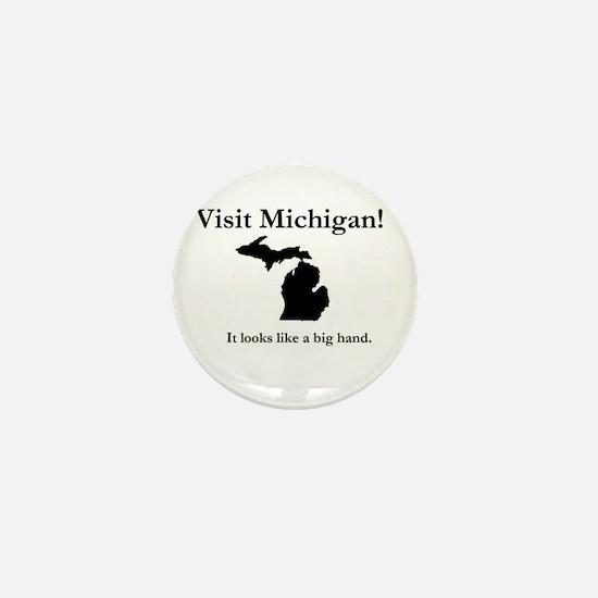 Funny Detroit michigan Mini Button
