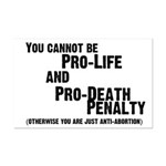 You cannot be Pro-Life and Pr Mini Poster Print