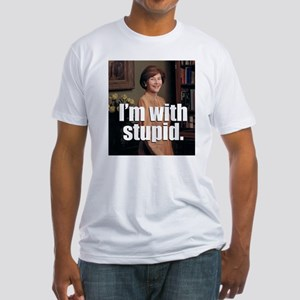 I'M WITH STUPID - Fitted T-Shirt