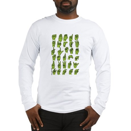 Finger Signing A to Z Long Sleeve T-Shirt