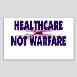 Healthcare Not Warfare Rectangle Sticker
