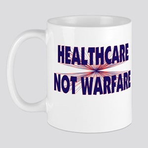 Healthcare Not Warfare Mug