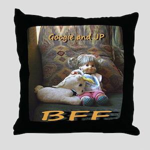 JP and Googie Throw Pillow