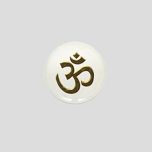 Golden Ohm & Buddha Quote Mini Button