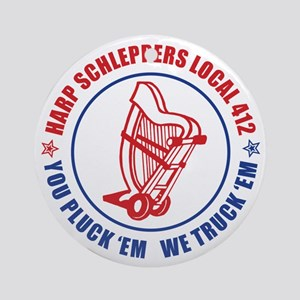 Harp Schleppers Local 412 Ornament (Round)