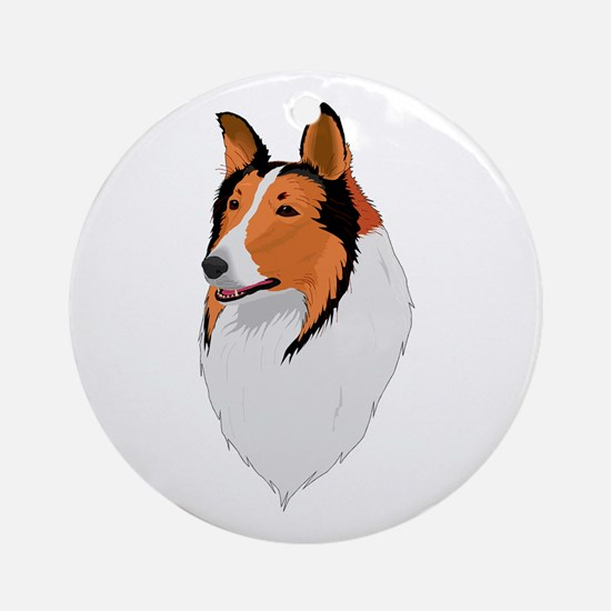 Beautiful Collie! Ornament (Round)