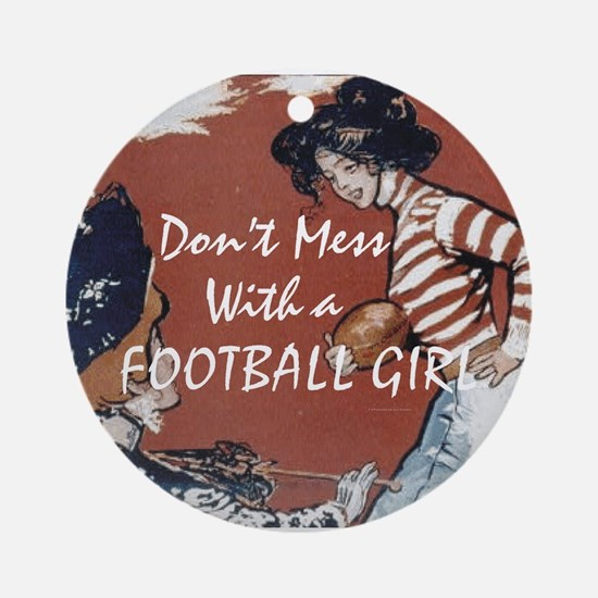 TOP Football Girl Ornament (Round)