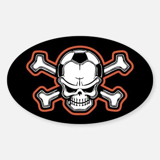 Soccer Skull III Oval Decal