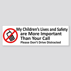 Don't Drive Distracted Bumper Sticker