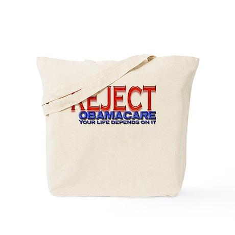 REJECT OBAMACARE Tote Bag