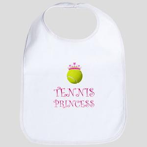 Tennis Princess Baby Bib