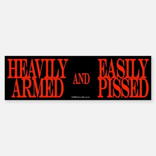 Heavily Armed Bumper Bumper Bumper Sticker