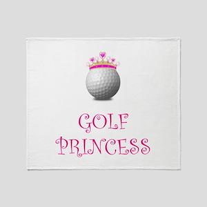 Golf Princess Throw Blanket