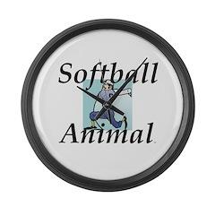 Softball Animal Large Wall Clock