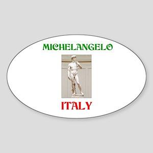 Michelangelo Oval Sticker