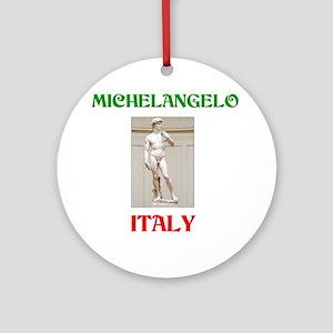 Michelangelo Ornament (Round)