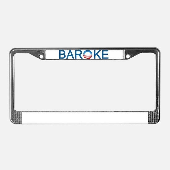 Baroke License Plate Frame