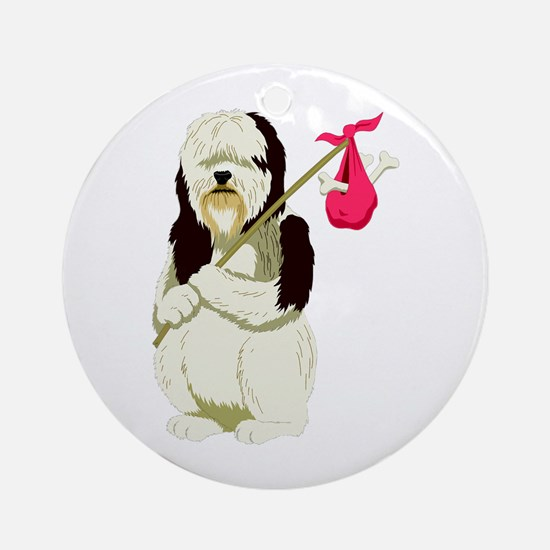 Sheep Dog! Ornament (Round)