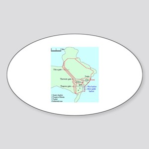 Plan of Carthage Oval Sticker