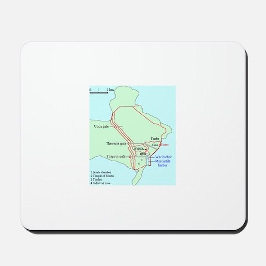 Plan of Carthage Mousepad
