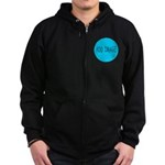 Rocks-Sea/Horse (Ar-Blk) Zip Hoodie (dark)