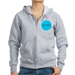 Rocks-Sea/Horse (Ar-Blk) Women's Zip Hoodie