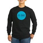 Rocks-Sea/Horse (Ar-Blk) Long Sleeve Dark T-Shirt