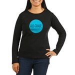 Rocks-Sea/Horse (Ar-Blk) Women's Long Sleeve Dark