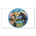 St Francis/Horse (Ar-Blk) Rectangle Sticker 10 pk