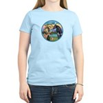 St Francis/Horse (Ar-Blk) Women's Light T-Shirt