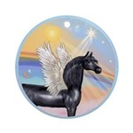 Clouds/Horse (Ar-Blk) Ornament (Round)