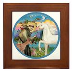St Francis/Horse (Ar-W) Framed Tile