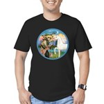 St Francis/Horse (Ar-W) Men's Fitted T-Shirt (dark