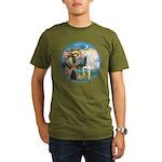 St Francis/Horse (Ar-W) Organic Men's T-Shirt (dar