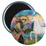St Francis/Horse (Ar-W) Magnet