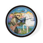 St Francis/Horse (Ar-W) Wall Clock