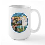 St Francis/Horse (Ar-W) Large Mug