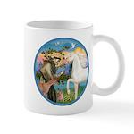 St Francis/Horse (Ar-W) Mug