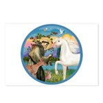 St Francis/Horse (Ar-W) Postcards (Package of 8)
