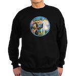 St Francis/Horse (Ar-W) Sweatshirt (dark)