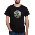 St Francis/Horse (Ar-W) Dark T-Shirt