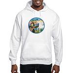 St Francis/Horse (Ar-W) Hooded Sweatshirt