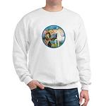 St Francis/Horse (Ar-W) Sweatshirt