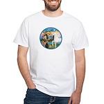St Francis/Horse (Ar-W) White T-Shirt