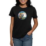 St Francis/Horse (Ar-W) Women's Dark T-Shirt