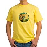 St Francis/Horse (Ar-W) Yellow T-Shirt