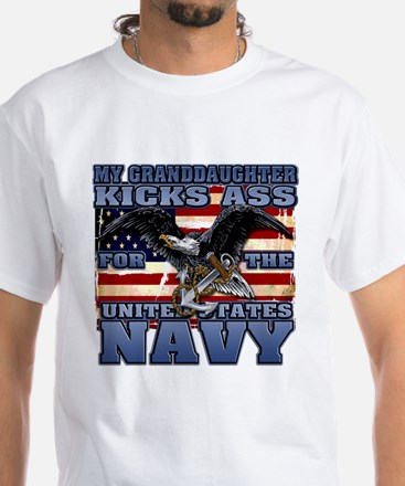USN Granddaughter White T-Shirt